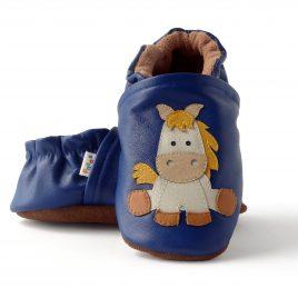 Zapatos para bebe en cuero y suela suave