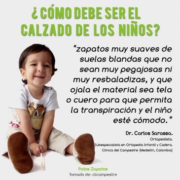 Zapatos que deben usar los niños. Ortopedista infantil Carlos Sarassa